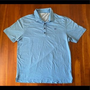 EUC Travis Mathew Light Blue Golf Shirt Polo XL